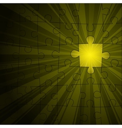 Yellow puzzle shine vector