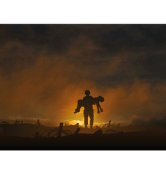War casualty vector