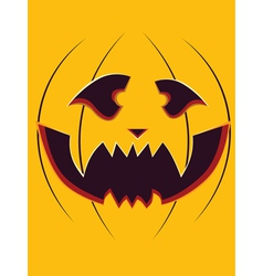 Scary pumpkin face2 vector