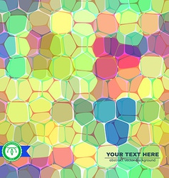 Colorful honeycomb seamless background vector