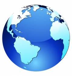 Glossy globe vector