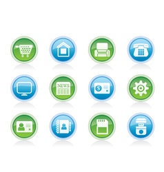 Business and website icons vector