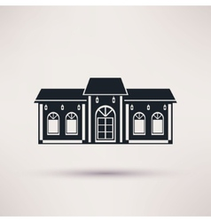 Buildings restaurant or cafe flat icon vector