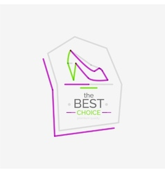 Minimal line design shopping stamps best choice vector