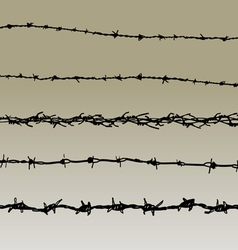 Barbed wire elements 4 vector