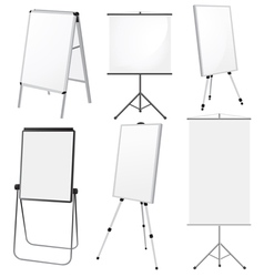 Blank promotion stand set vector