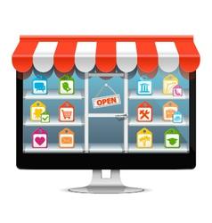 Computer supermarket concept vector