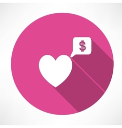 Heart said about money vector