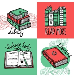 Books design concept set vector