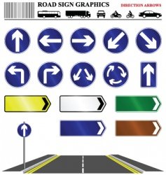 Direction arrows vector