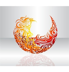 Decorative fire flame vector