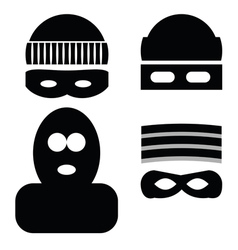Thief icons vector