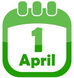 Icon 1 april in the calendar vector