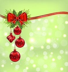 Elegant packing with christmas balls vector