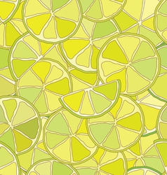 Fresh lime citrus seamless pattern vector