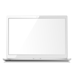 White laptop vector