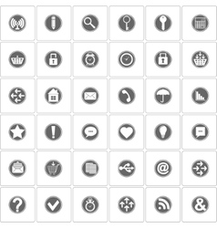 Basic icons set vector