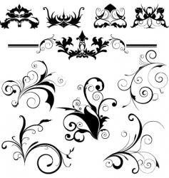 Design elements floral vector