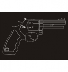 Revolver outline vector