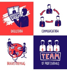 Teamwork design concept vector