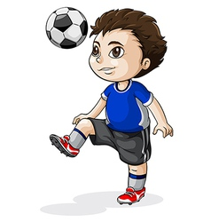 A young asian soccer player vector