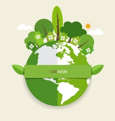 Green eco earth vector