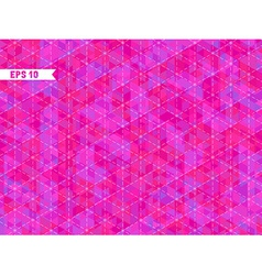Geometric pink background with place for your text vector