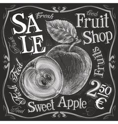 Apple pomegranate logo design template vector