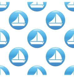 Sailing ship sign pattern vector