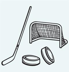 Hockey icon vector