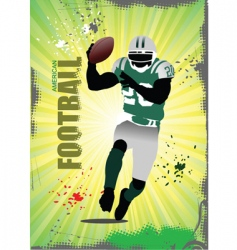 American football poster vector