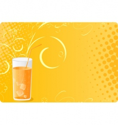 Halftone banner with juice glass vector