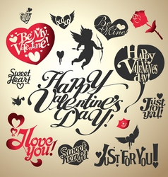 Valentines day lettering vector