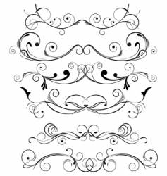Floral trims vector