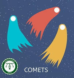 Retro comet vector