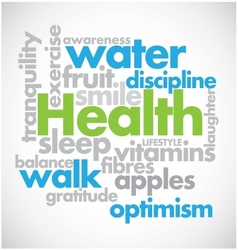 Health word cloud vector