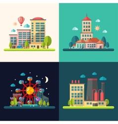 Modern flat design conceptual city vector