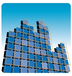 Squares high rise vector