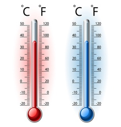 Thermometer set vector