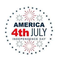 American independence day label vector