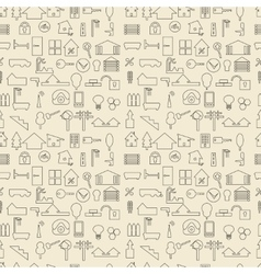 Real estate and construction items linear set vector
