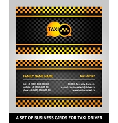 Visiting cards - taxi vector