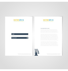 Flyer template back and front design medical icons vector