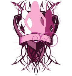 Sexy shields vector