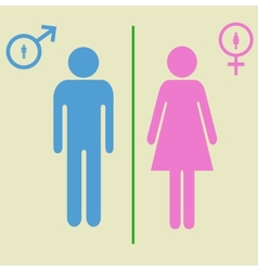 Man and woman signs vector