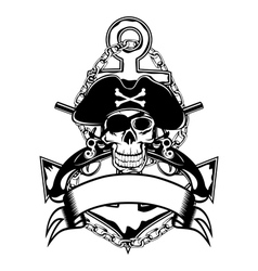 Anchor and skull vector