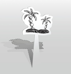 Sticker with two palms vector