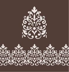 Border frame with damask ornament vector