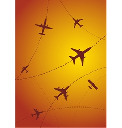 Airplane routes vector