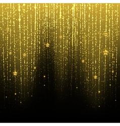 Golden starry rain vector